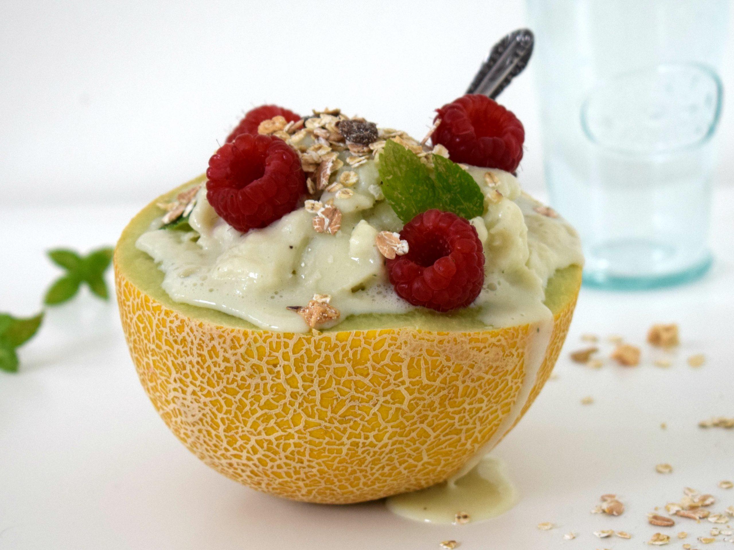 Vegan sorbet meloen ijs