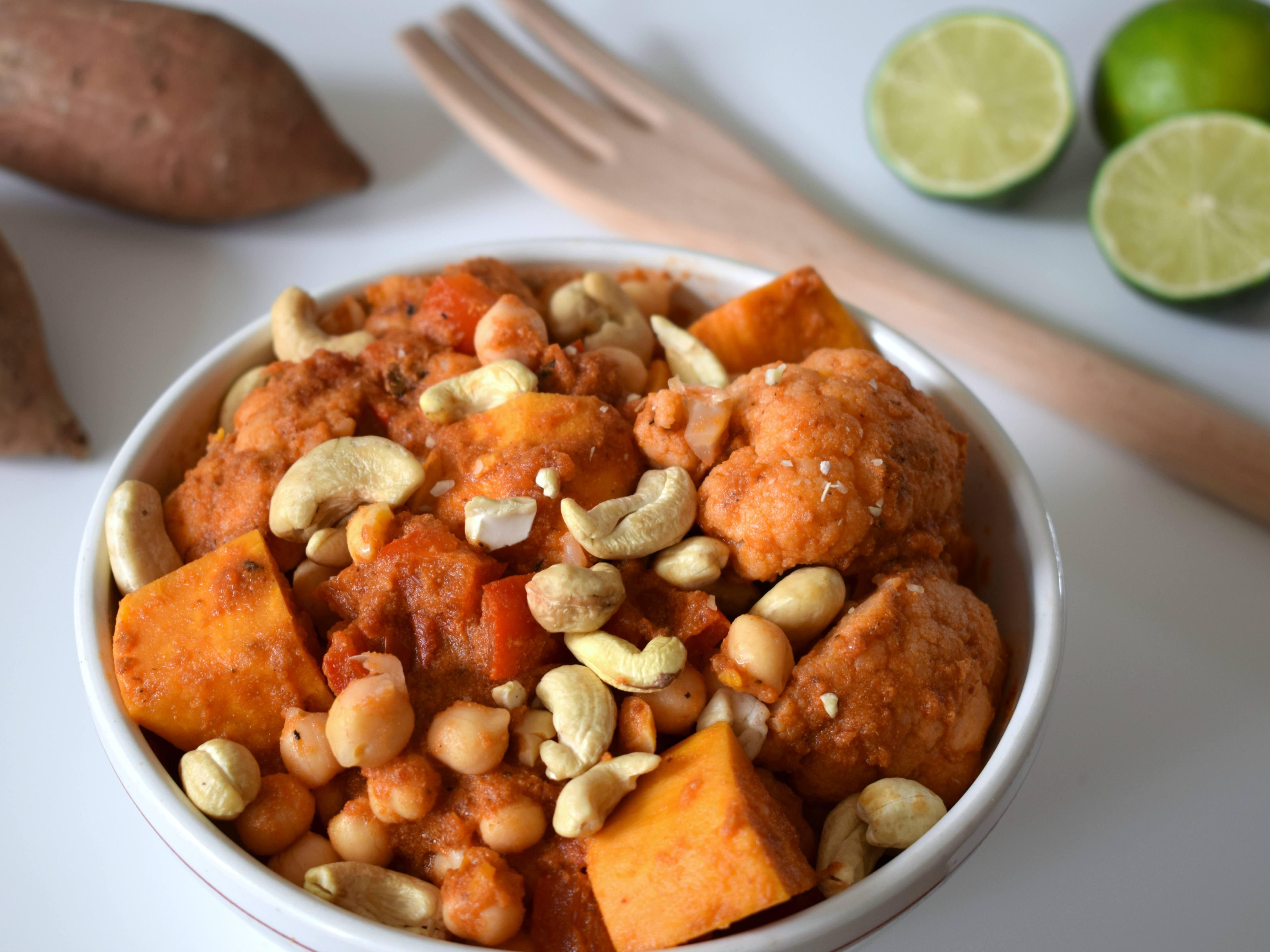 zoete aardappel curry