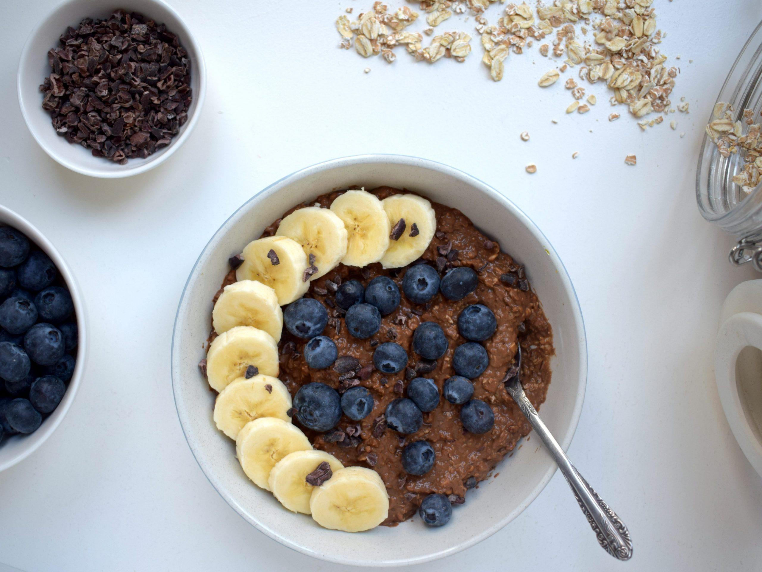 Chocolade havermout ontbijt (eiwitrijk)