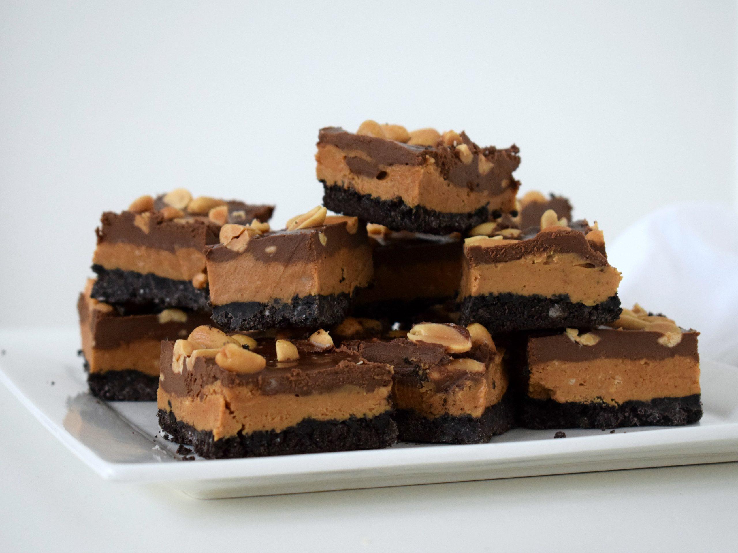 Pindakaas Oreo Chocolade bites (vegan & no bake)