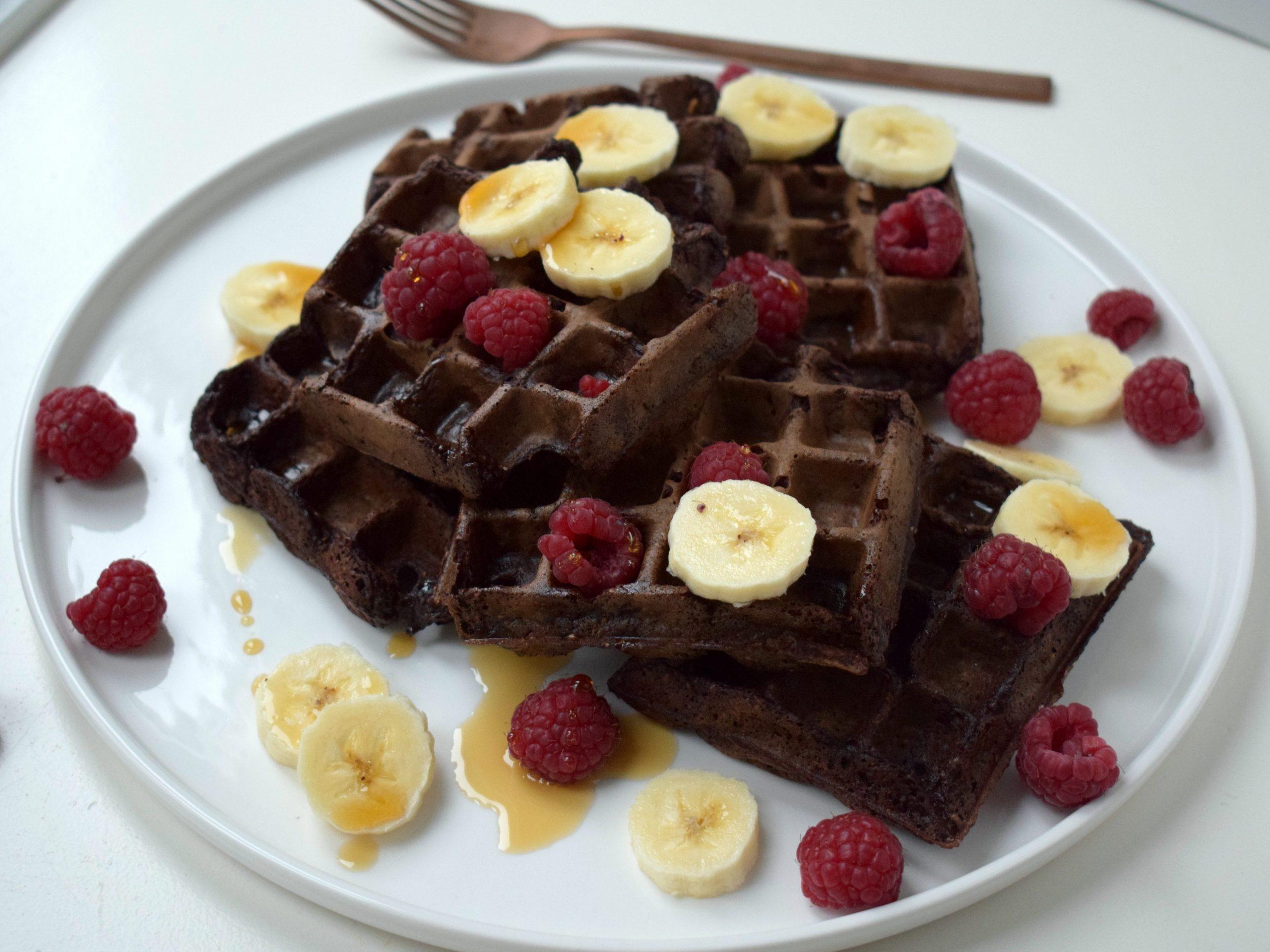 Chocolade wafels vegan & eiwitrijk