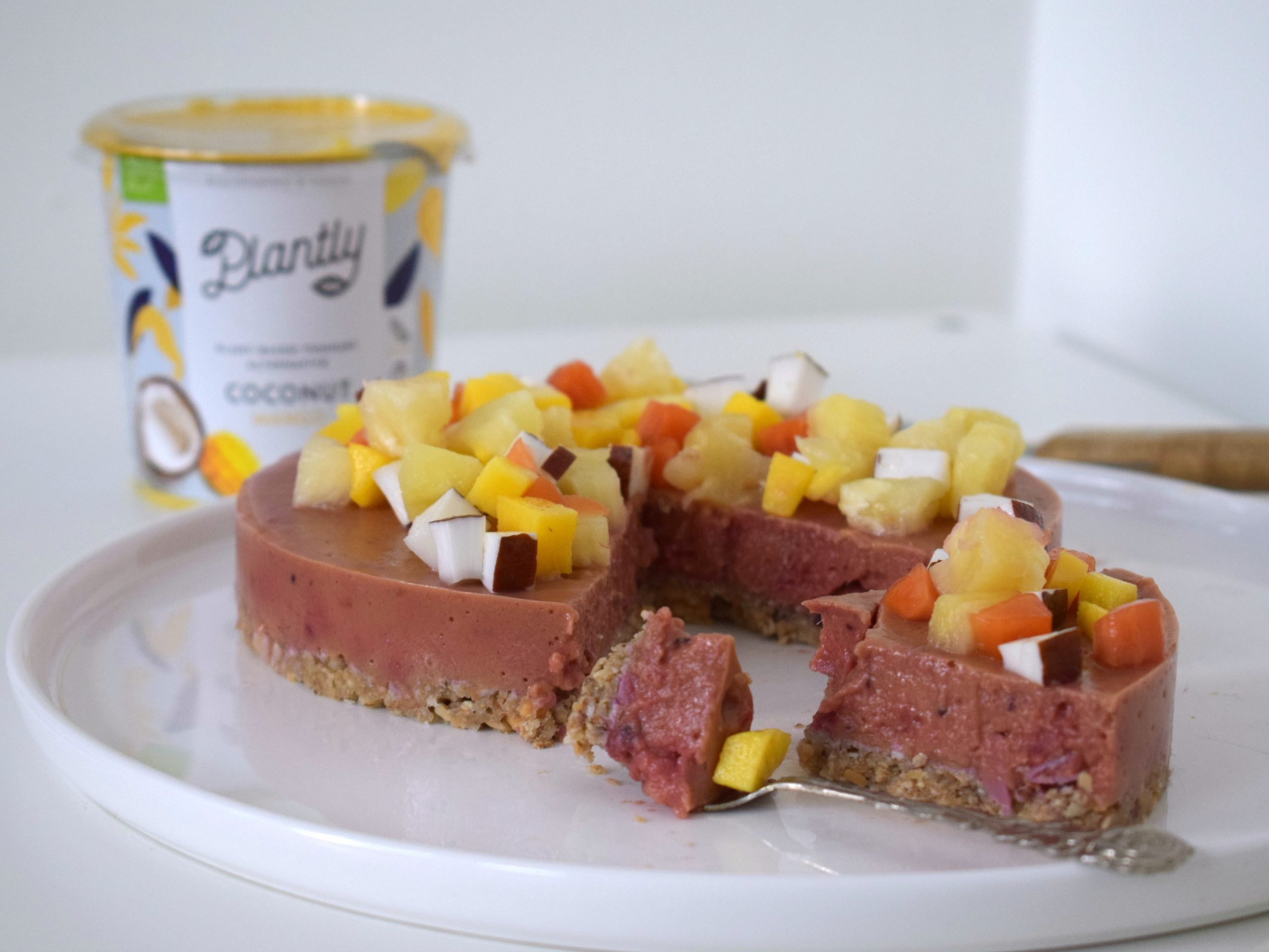 Review Plantly & vegan cheesecake recept