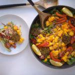Couscous salade met pompoen en mango