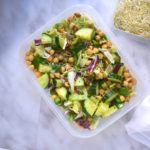 Vegan rijst salade met kikkererwten: Tupperware Thursday