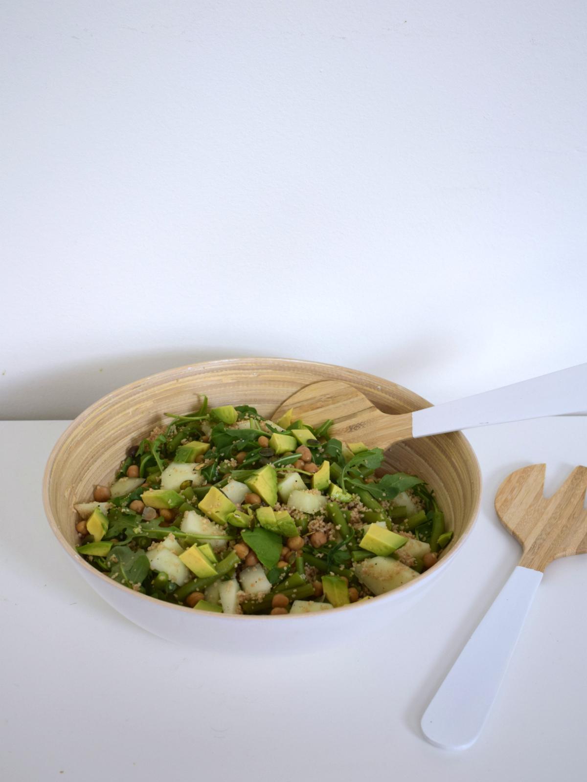 Groene couscous salade met meloen