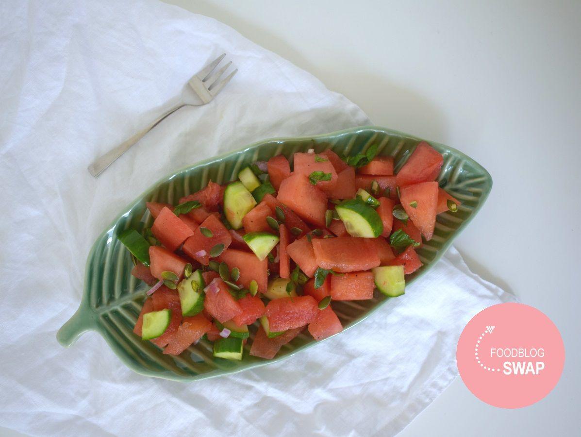 Vegan watermeloen salade