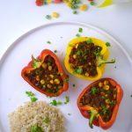 Vegan Mexicaanse gevulde paprika