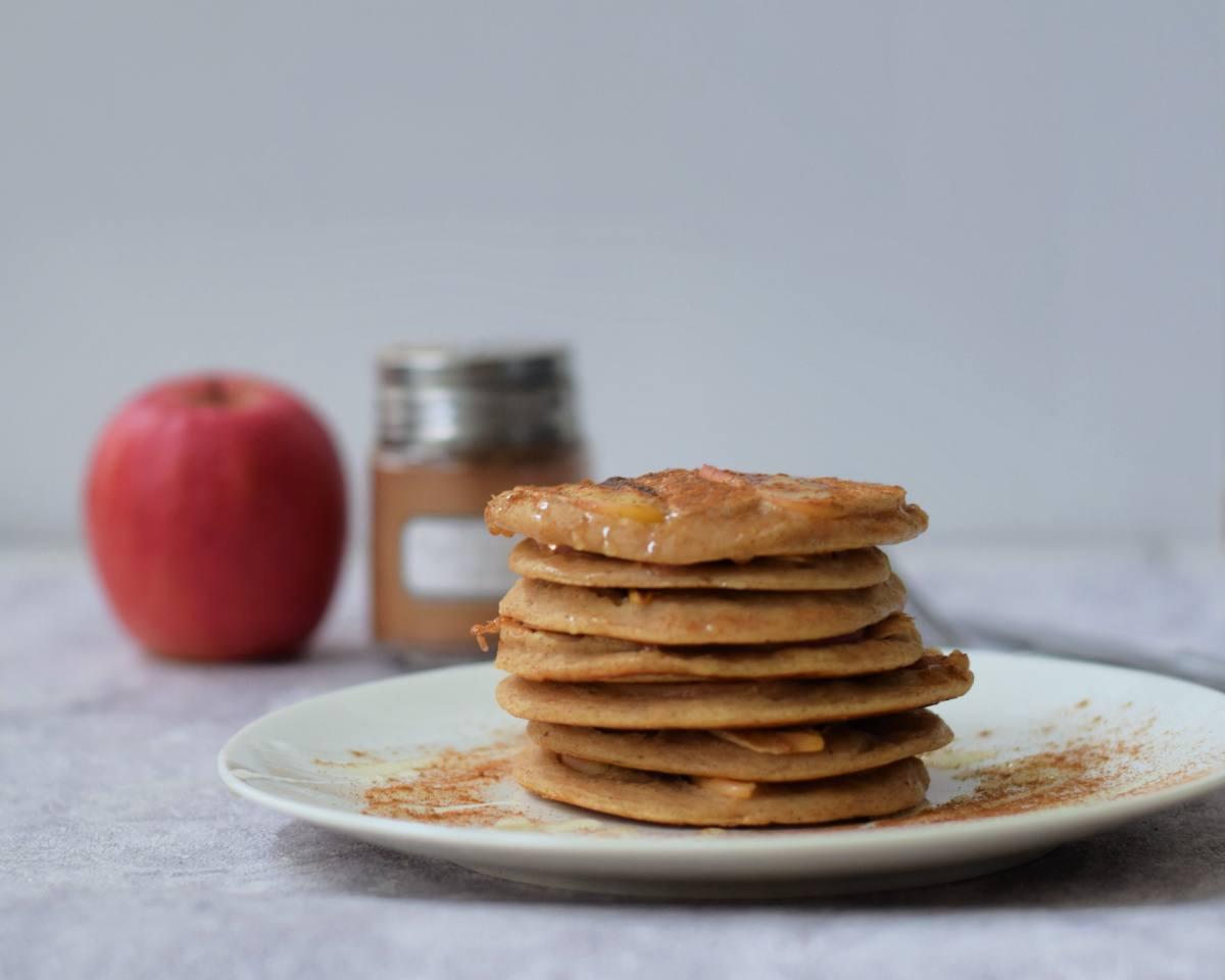 Ultimate vegan apple pancakes