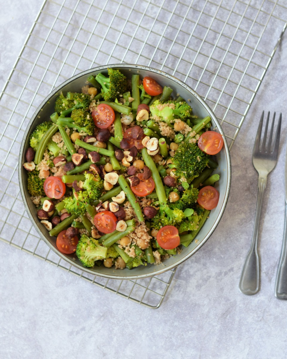 Green goodness bowl met sperziebonen en broccoli