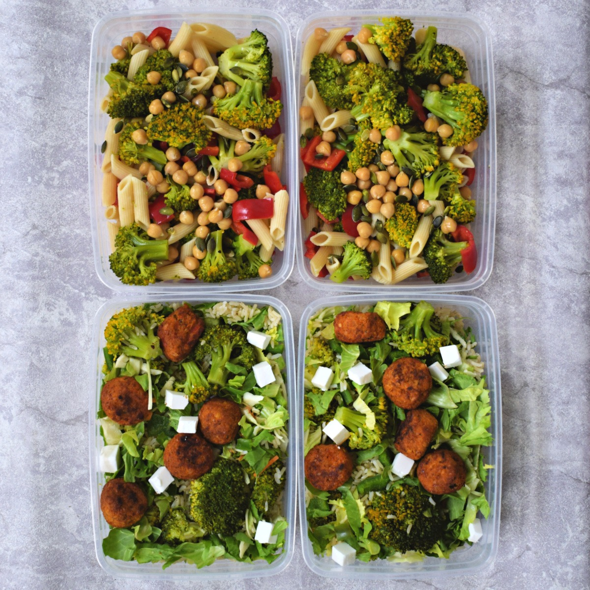 2x vegan mealprep # Tupperware Thursday