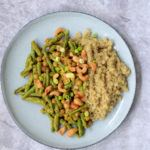 Vegan gele sperziebonen curry zonder curry paste