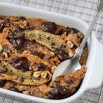 Peanutbutter chocolate banana baked oatmeal