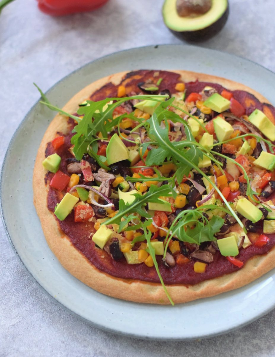 Vegan Mexicaanse pizza