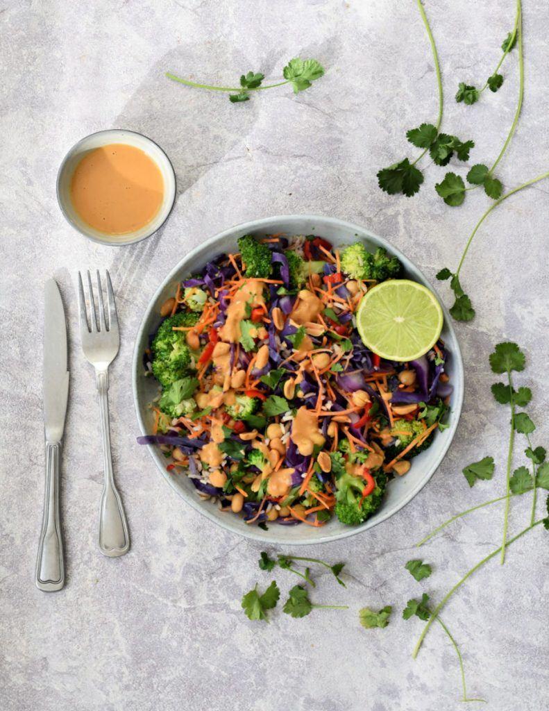 rijst salade met kikkererwten