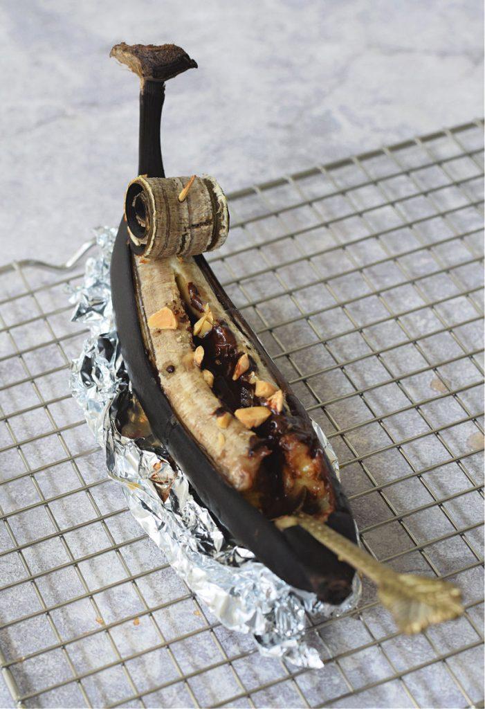 banaan van de bbq