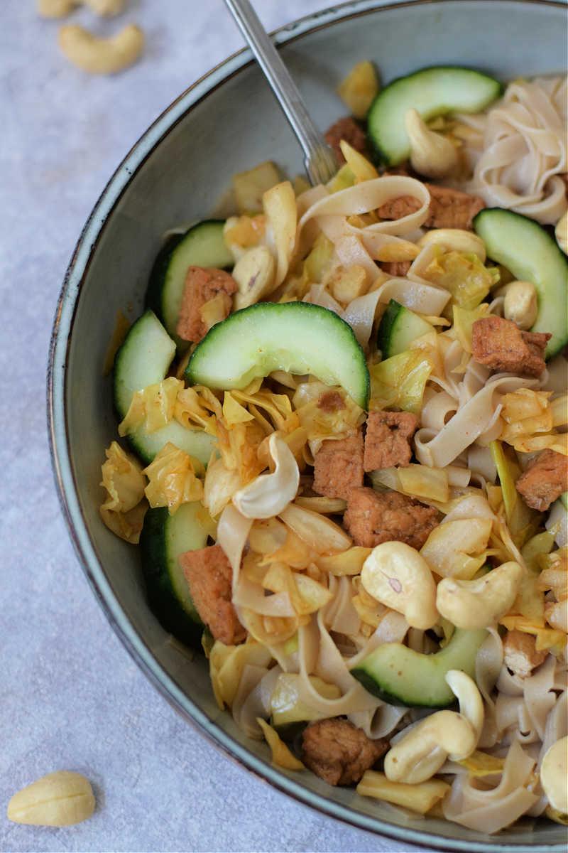 recept noedels met tofu