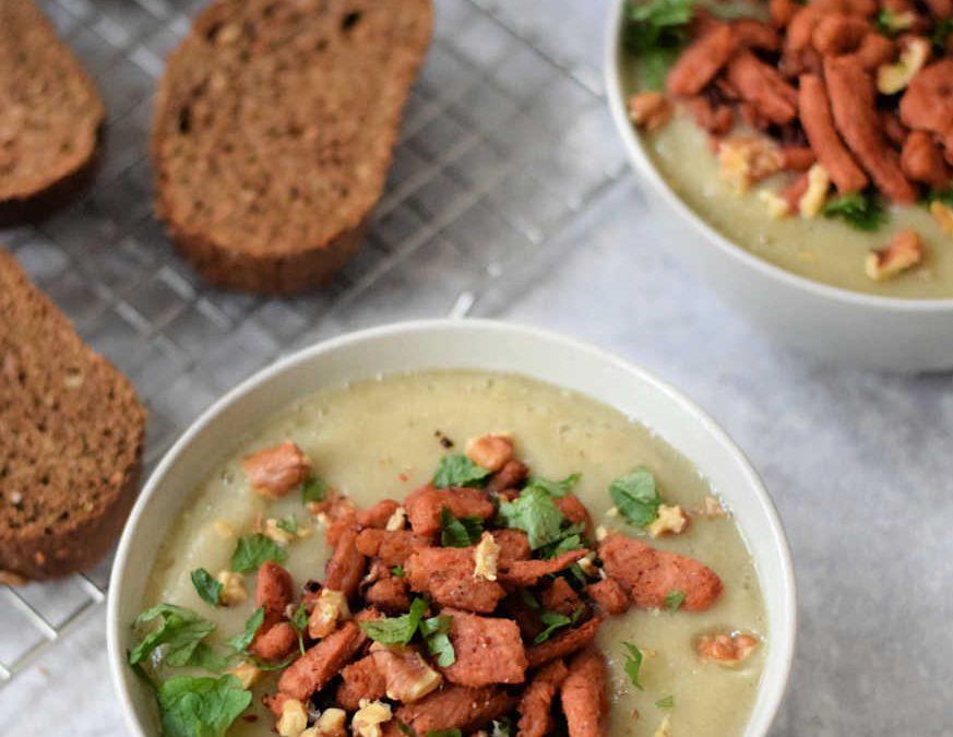 Knolselderij witte bonen soep